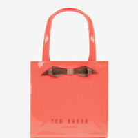 Small patent bow shopper bag - Orange | Bags | Ted Baker