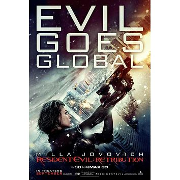 Resident Evil: Retribution 27x40 Movie Poster (2012)