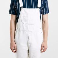 Men's Topman Denim Overall Shorts,