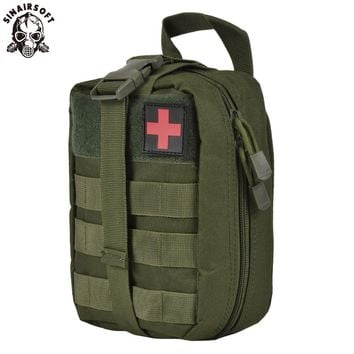 SINAIRSOFT Outdoor Tactical Medical First Aid Utility Pouch Emergency Bag For Vest & Belt Treatment Waist Pack Multifunctional