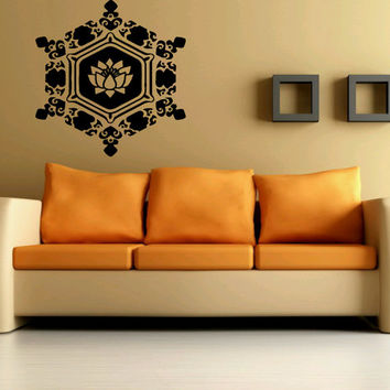 Room Wall Decal Sticker Decor Art Yoga Flower Lotus Symbol Abstract Sign 1346