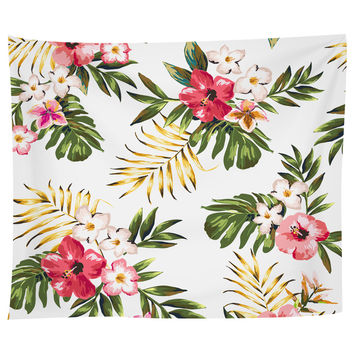 Tropical Flowers Two Tapestry