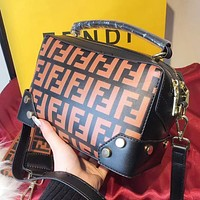 FENDI Hot Popular Women Leather Shoulder Bag Crossbody Satchel