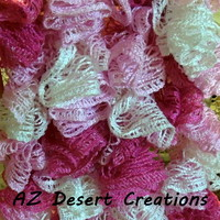 Breast Cancer Awareness Ruffle Sashay Scarf Truffle Scarf Handmade