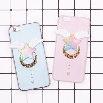 For Huawei Mate 7 8 9 Lite P6 P7 P8 2017 P9 Plus P10 Enjoy 5S GR3 6 Nova Fantasy Wing Star Moon Pearl Stereo 3D DIY Case Mobile