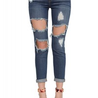 Wyatt Fitted Rip Jeans