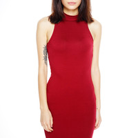 Beverly Bodycon Dress - Burgundy