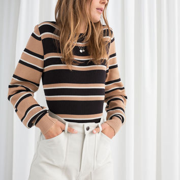 Crewneck Sweater - Black Stripe - Sweaters - & Other Stories US