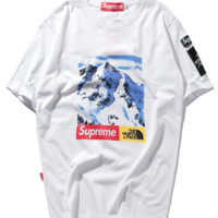 Supreme Round Neck Short Sleeve T-Shirt