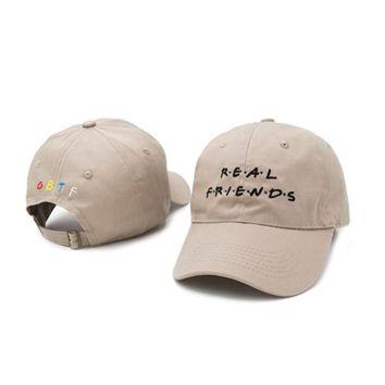 Real Friends 6 Panel Dad Hat Cap