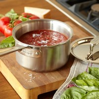All-Clad d5 Brushed Stainless-Steel Saucepans