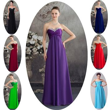 2015 Black Blue Burgundy Red Green Purple Chiffon Cheap Bridesmaid Dresses Under 50 Prom Long Vestido De Festa Fast Shipping