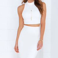 All in the Details Ivory Bodycon Two-Piece Dress