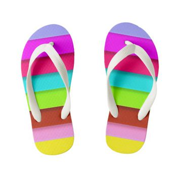 Kids rainbow designer slim-Straps Sandals Kid's Flip Flops