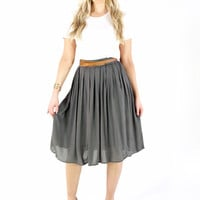 Below the Knee Pleat Skirt