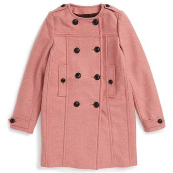 Burberry Antwood Peacoat (Little Girls & Big Girls) | Nordstrom