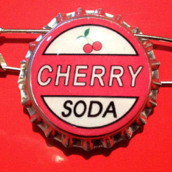 Cherry Soda Ellie Badge Inspired Bottlecap Pin Disney Pixar Up