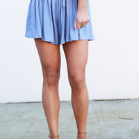 Go With The Flow Shorties By BB Dakota {Blue}