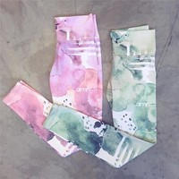 ACTIVEWEAR WATERCOLOR LEGGINGS - Flash Sale - Today Only $9.98!