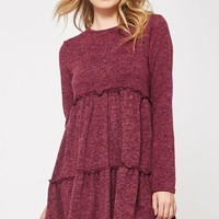 Tiered Sweater Babydoll Dress