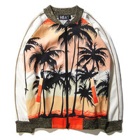 Unisex Palm Tree Outwear Jacket