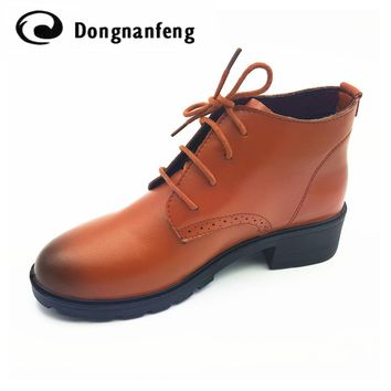New Women's Shoes Woman Lace-Up Oxford Shoes Platform Zapatos Hombre Chaussure Homme C