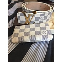 Day-First™ Louis Vuitton Damier Azur Belt and Wallet