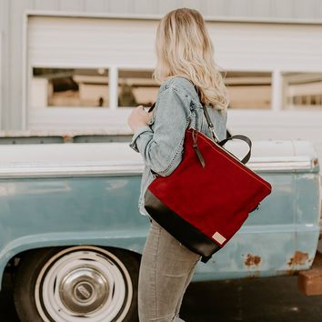 The Rouge Backpack + Crossbody in Waxed Canvas