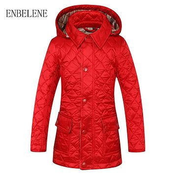 Baby Boys Cotton Jacket for Children Red Black Camel Plaid Hooded Outwear Coat Autumn Winter Kids Down Jacket FH523