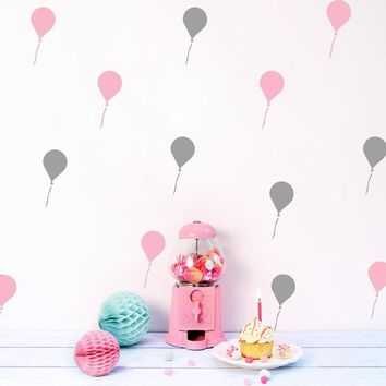 Creative DIY new Cartoon balloon Wall Stickers for kids rooms bedroom wall sticker Home decor Living Room baby room