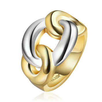 jewerly anillos 18K Yellow silver dating party wedding rings girl Jewelry Rings