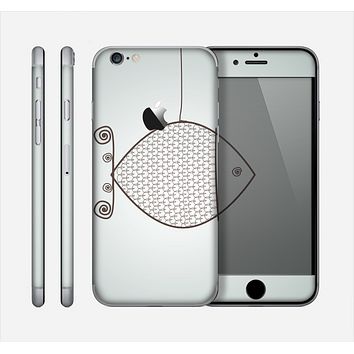 The Simple Vintage Fish on String Skin for the Apple iPhone 6