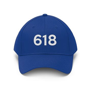 Illinois 618 Area Code Embroidered Twill Hat
