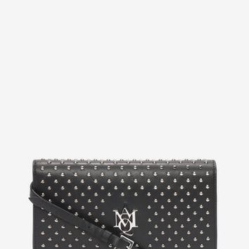 McQueen Insignia Studded Pouch With Strap | Alexander McQueen