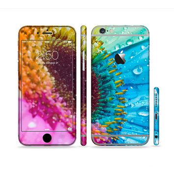 The Vibrant Colored Wet Flower Sectioned Skin Series for the Apple iPhone 6