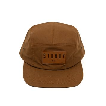 Five Panel Waxed Canvas Camper Hat