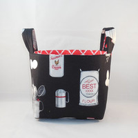 Kitchen Themed Basket With Two Handles For Storage Or Gift Giving