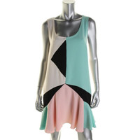 Marc by Marc Jacobs Womens Colorblock Sleeveless Casual Dress