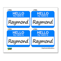 Raymond Hello My Name Is - Sheet of 4 Stickers