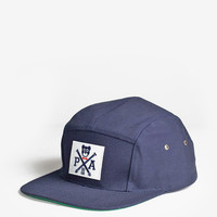 Cross-Bear Five Panel Hat in Navy