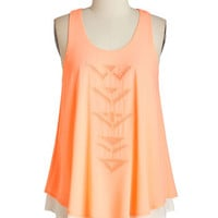 ModCloth Mid-length Sleeveless Let it Beam Top