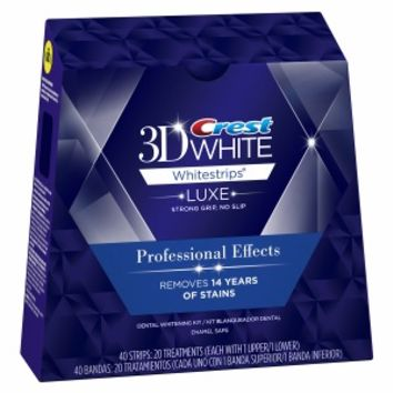 Crest 3D White Luxe Whitestrips Professional Effects - Teeth Whitening Kit