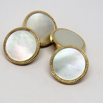 Vintage French, MURAT, Mother Of Pearl, Cufflinks