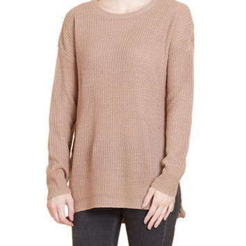 LE3NO Womens Oversized Long Sleeve Knitted Tunic Pullover Sweater