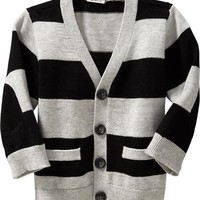 Striped V-Neck Cardigans for Baby
