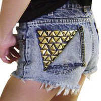 Serge and Destroy — High Waisted Retro Levi's Shorts Peeled Pocket