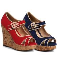 Bettie Page Elise Wedge