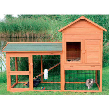 Trixie 2-Story Rabbit Hutch & Outdoor Run | Hutches | PetSmart