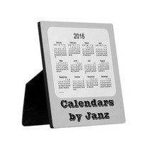2016 Grey Desk Calendar by Janz Photo Plaques