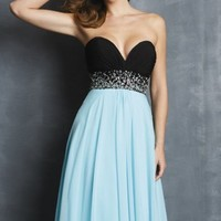 Strapless Chiffon Gown by NightMoves by Allure